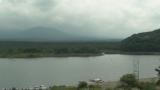 精進湖と富士山ライブカメラと気象レーダー/山梨県富士河口湖町