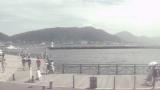 唐戸から見た関門海峡ライブカメラと気象レーダー/山口県下関市