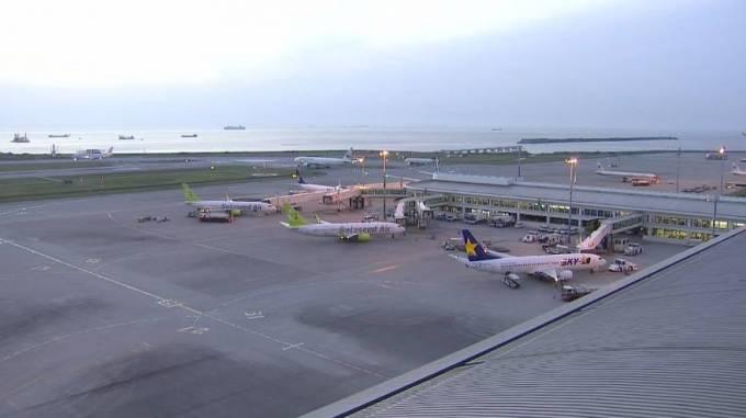那覇空港 ライブカメラ(QAB)と雨雲レーダー/沖縄県那覇市