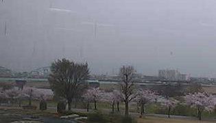 久留米百年公園・筑後川沿いライブカメラと雨雲レーダー/福岡県久留米市