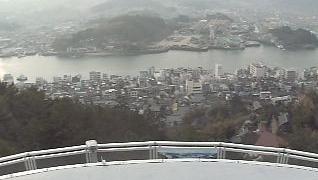 尾道水道ライブカメラ(千光寺より)と雨雲レーダー/広島県尾道市