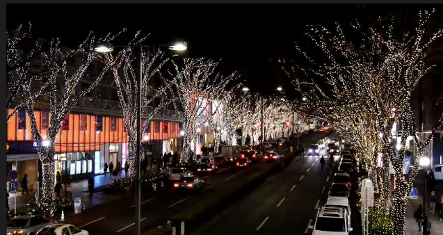コカ・コーラ表参道イルミネーション2013ライブカメラと雨雲レーダー/東京都