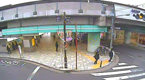 停止中:京王線八幡山駅ライブカメラと雨雲レーダー/東京都杉並区