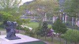 日吉親水公園・意宇川・周藤彌兵衛像ライブカメラと雨雲レーダー/島根県松江市