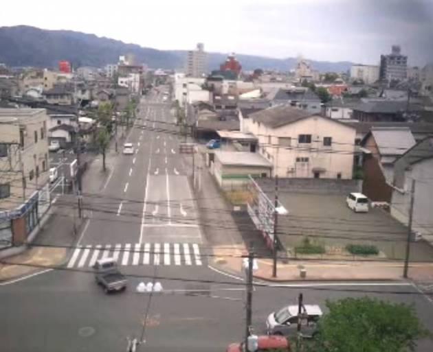 県道250号と八代市の街ライブカメラと気象レーダー/熊本県八代市