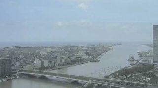 信濃川河口ライブカメラと雨雲レーダー/新潟県新潟市