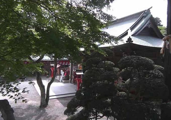 愛宕神社の境内ライブカメラと雨雲レーダー/宮城県仙台市