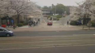 長崎大学正門ライブカメラと気象レーダー/長崎県長崎市