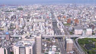 あべのハルカス周辺ライブカメラ(37階)と雨雲レーダー/大阪府大阪市