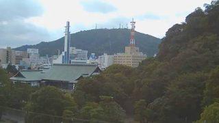 旧徳島城表御殿庭園と眉山ライブカメラ(FRESH)と気象レーダー/徳島県徳島市
