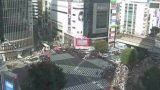 渋谷駅前スクランブル交差点ライブカメラ(遠目)と雨雲レーダー/東京都渋谷区