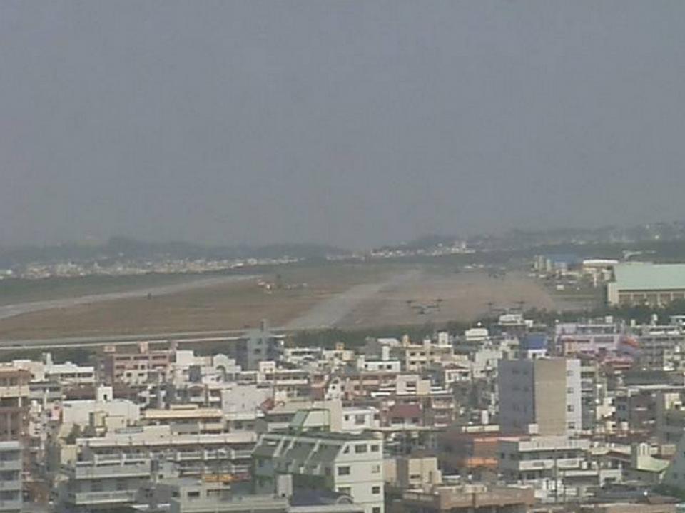普天間飛行場ライブカメラ(普天間基地)と雨雲レーダー/沖縄県宜野湾市