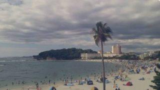 白良浜ライブカメラ(USTREAM)と雨雲レーダー/和歌山県白浜町