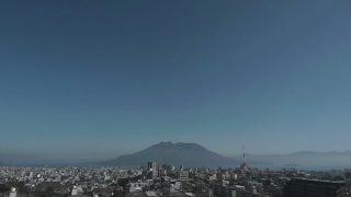 桜島 ライブカメラ(KTS)と雨雲レーダー/鹿児島県鹿児島市