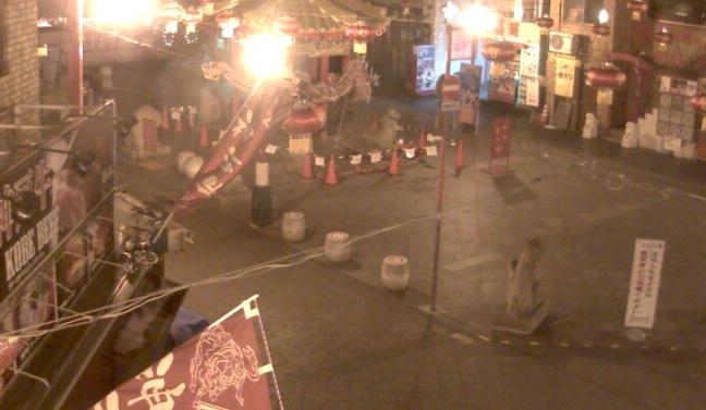 南京町広場ライブカメラと雨雲レーダー/兵庫県神戸市