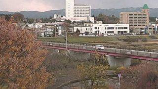 長木川と大館橋ライブカメラと気象レーダー/秋田県大館市