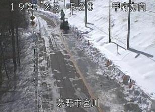 国道20号の道路状況ライブカメラと雨雲レーダー/長野県