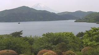恩賜箱根公園湖畔と富士山ライブカメラと雨雲レーダー/神奈川県箱根町