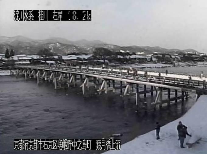 嵐山 渡月橋も見える淀川(桂川、宇治川、木更川)ライブカメラと雨雲レーダー/京都・大阪