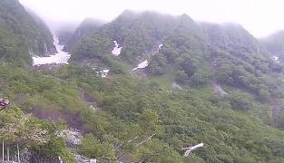 槍ヶ岳の岳沢小屋ライブカメラと雨雲レーダー/岐阜県高山市