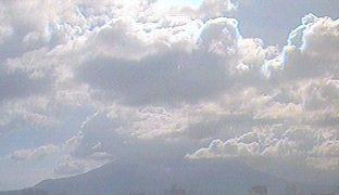 鹿児島大学から見える桜島ライブカメラと雨雲レーダー/鹿児島県鹿児島市