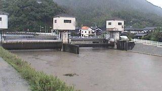 塩見川潮止水門ライブカメラと気象レーダー/鳥取県鳥取市