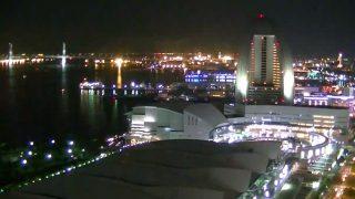 横浜港を見下ろすライブカメラ「みなとみらいの窓」と雨雲レーダー/神奈川県横浜市