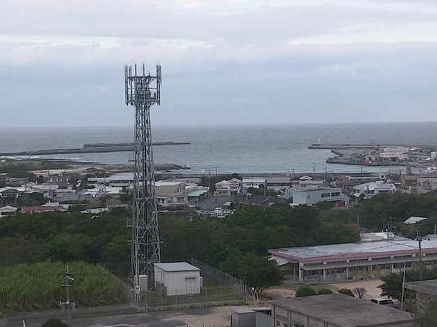 喜界島の町並みライブカメラと雨雲レーダー/鹿児島県大島郡喜界町