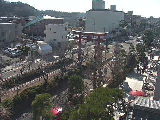 鶴岡八幡宮の参道(段葛)ライブカメラと雨雲レーダー/神奈川県鎌倉市