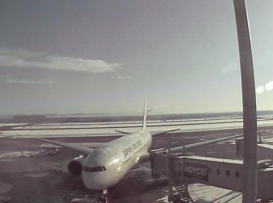 新千歳空港ライブカメラ[JAL-天気情報]と雨雲レーダー/北海道千歳市