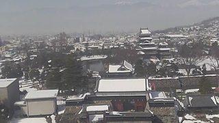 国宝 松本城ライブカメラ2と気象レーダー/長野県松本市