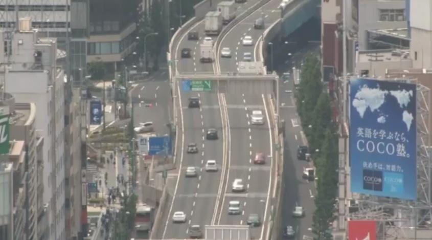 停止中:首都高速3号渋谷線ライブカメラと雨雲レーダー/東京都港区