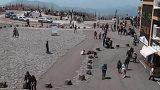富士山五合目ロータリーライブカメラと気象レーダー/山梨県富士河口湖町