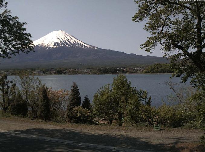 河口湖大石 富士山ライブカメラと気象レーダー/山梨県富士河口湖町