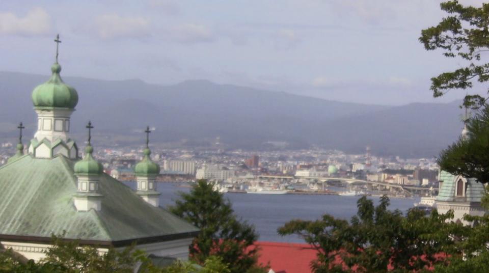 元町教会郡・函館市街地・駒ケ岳などライブカメラと気象レーダー/北海道函館市