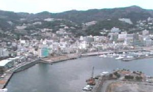 停止中:熱海後楽園ホテルタワーライブカメラと雨雲レーダー/静岡県熱海市