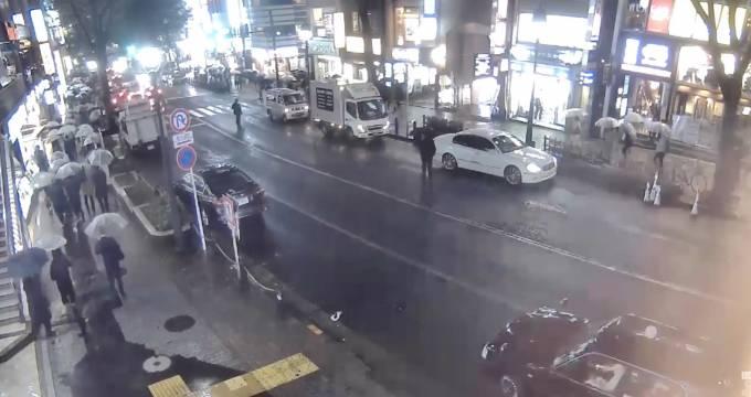 渋谷道玄坂ライブカメラと雨雲レーダー/東京都渋谷区