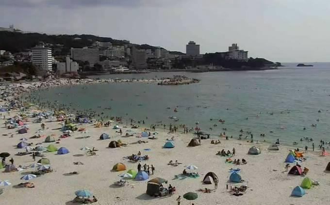 白良浜ライブカメラ(YouTube)と雨雲レーダー/和歌山県白浜町