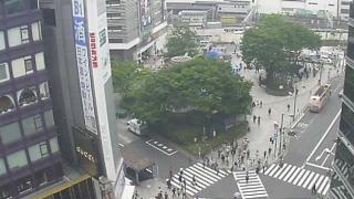 新宿大通り・JR新宿駅東口ライブカメラと気象レーダー/東京都新宿区