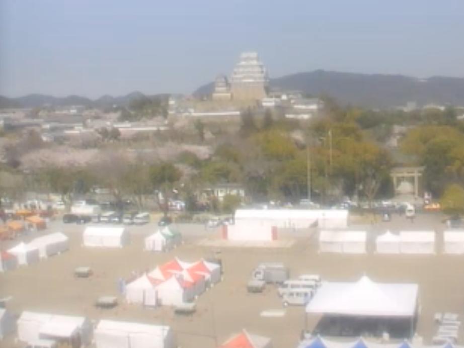 停止中:姫路城とその周辺ライブカメラと雨雲レーダー/兵庫県姫路市