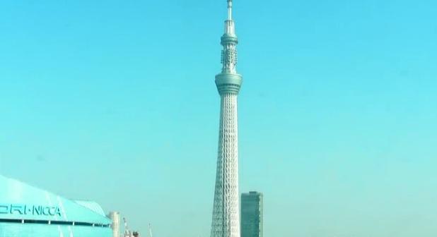 停止中:スカイツリーライブカメラと雨雲レーダー/東京都墨田区