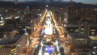 大通公園ライブカメラと雨雲レーダー/北海道札幌市