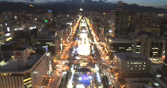 停止中:大通公園ライブカメラと雨雲レーダー/北海道札幌市