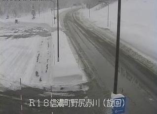 国道18号の道路状況ライブカメラと雨雲レーダー/長野県