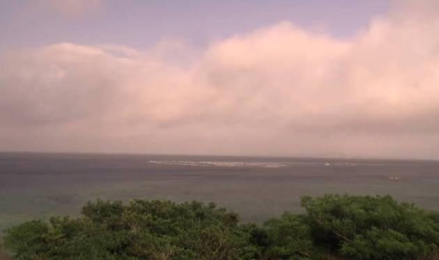 停止中:伊江島や周辺の東シナ海が一望できるライブカメラと気象レーダー/沖縄県本部町