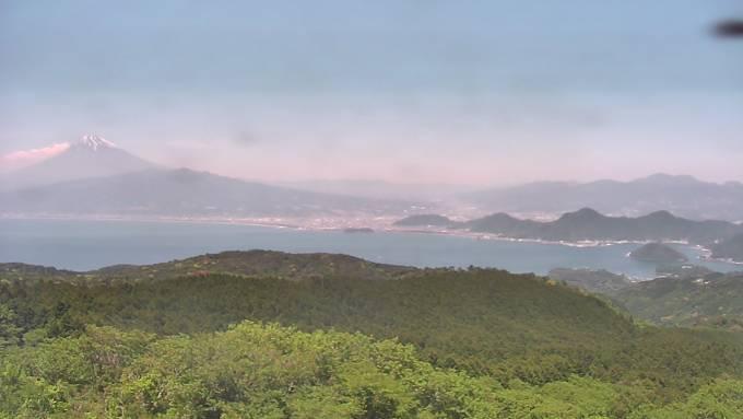 富士山と駿河湾ライブカメラと雨雲レーダー/静岡県伊豆市