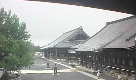 西本願寺ライブカメラと気象レーダー/京都府下京区