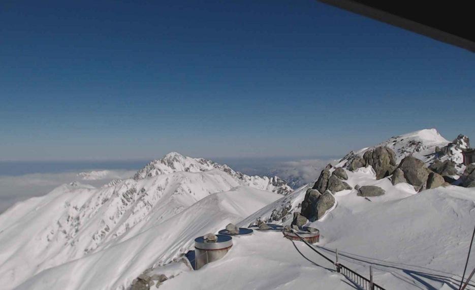 北アルプス立山(雄山)頂上(3,000m)ライブカメラと気象レーダー/富山県立山町