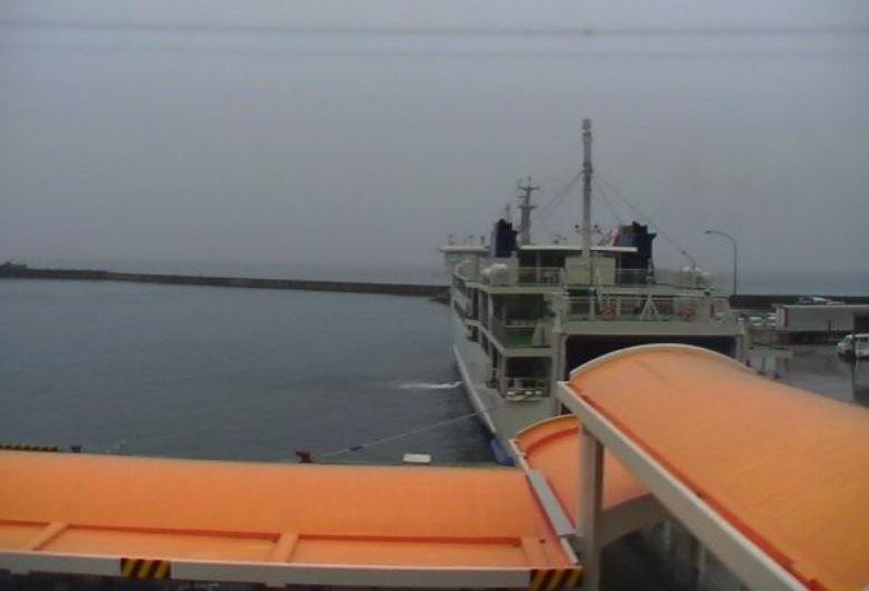 伊江港ライブカメラと雨雲レーダー/沖縄県伊江島