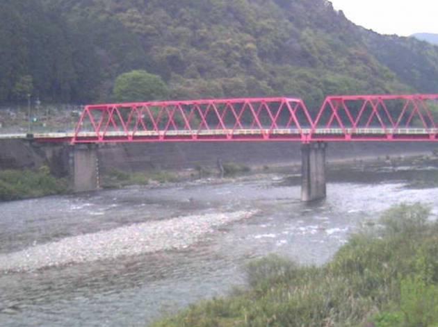 停止中:長良川と洲原橋ライブカメラと雨雲レーダー/岐阜県美濃市